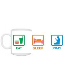 Кружка есть спать молиться