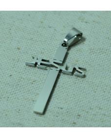 Кулон крест Jesus