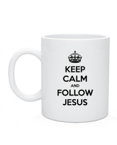 Кружка Keep calm and follow Jesus
