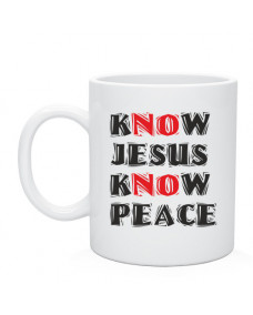 Кружка Know Jesus know peace